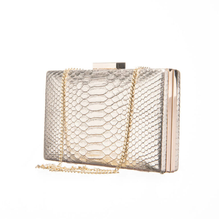 Clutch ecopelle stampa animalier colore oro 3