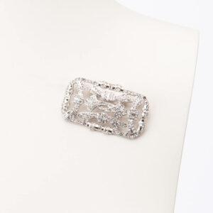 Spilla modello deco colore argento crystal 1