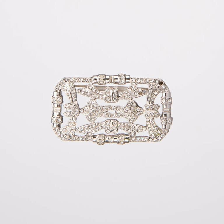 Spilla modello deco colore argento crystal 3