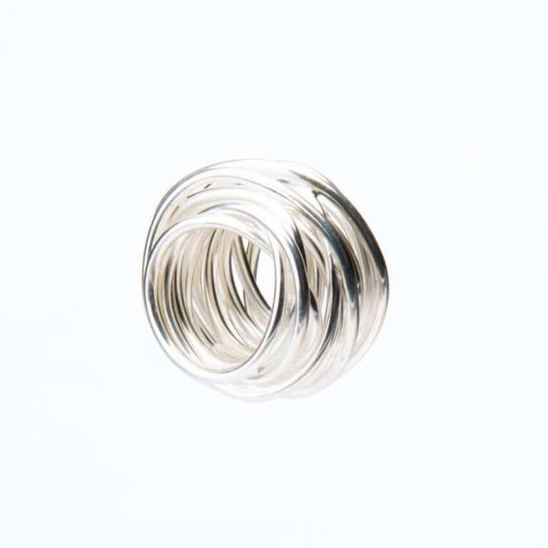 Anello nido filo argento 2