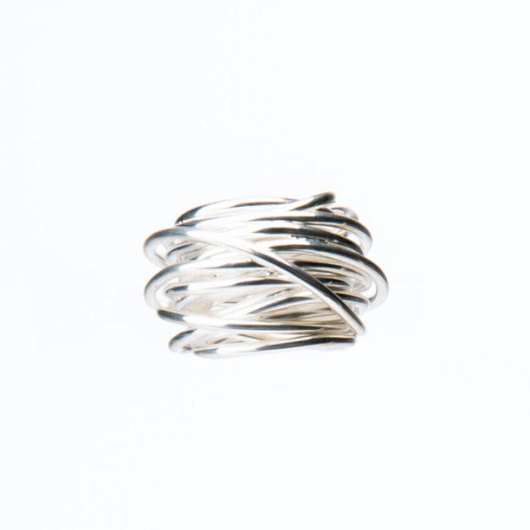 Anello nido filo argento 1