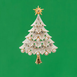 Natale bianco stella perle cristalli 1