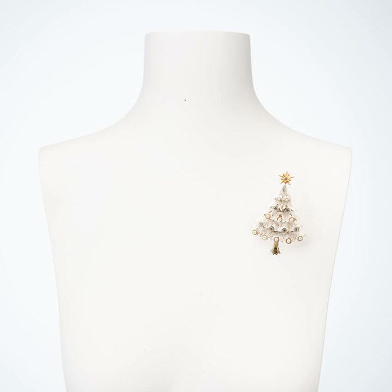 Natale bianco stella perle cristalli 3
