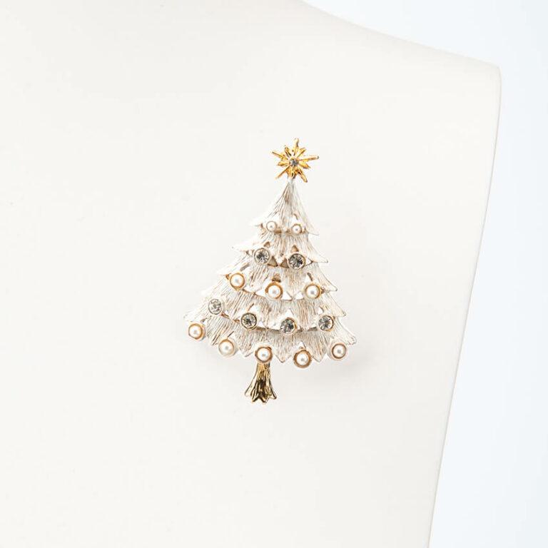 Natale bianco stella perle cristalli 2