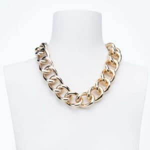 Collana girocollo catena groumette classica placcata oro