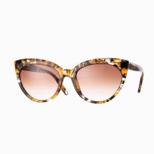 Occhiali sole Pagani modello Agata marmo ambra 2