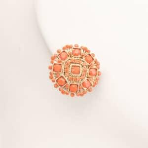 Orecchini clip oro corallo