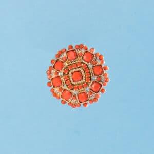 Orecchini clip oro corallo 5