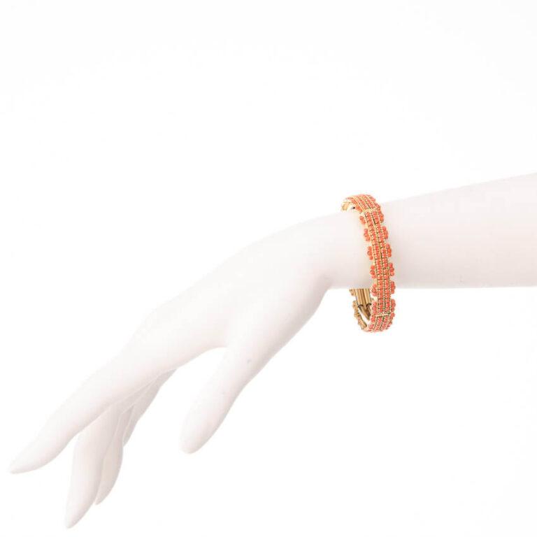 Bracciale elastico oro arancione corallo
