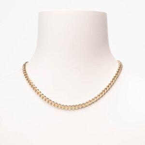 Collana girocollo mini groumette argento oro
