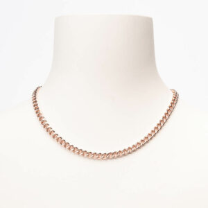 Collana girocollo mini groumette argento oro rosa