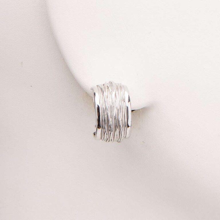 Orecchini clip filo vita argento 1