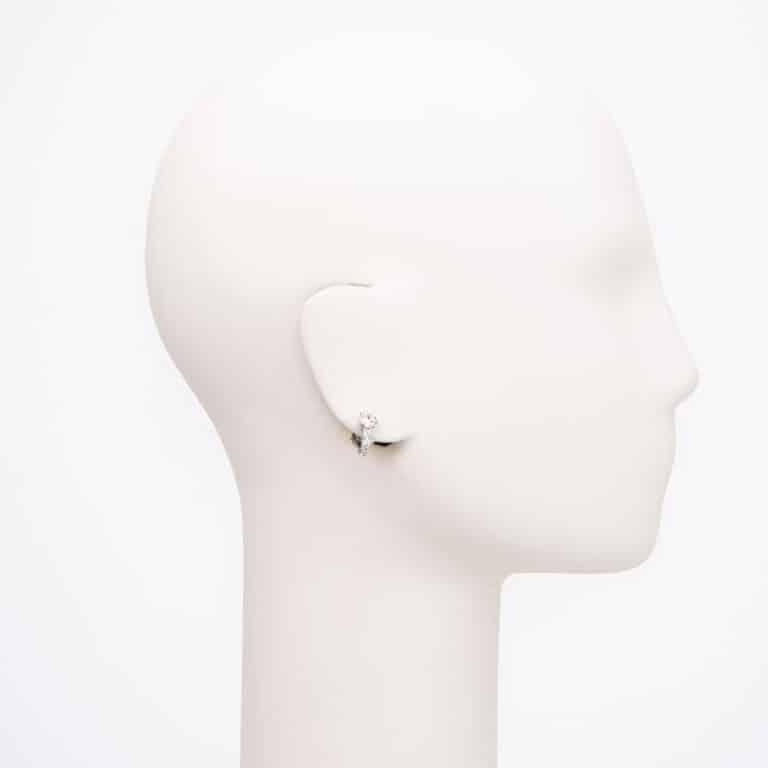 Orecchini punto luce clip argento zirconi 2