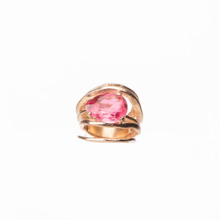 Anello multi fedine oro goccia quarzo rubino 3
