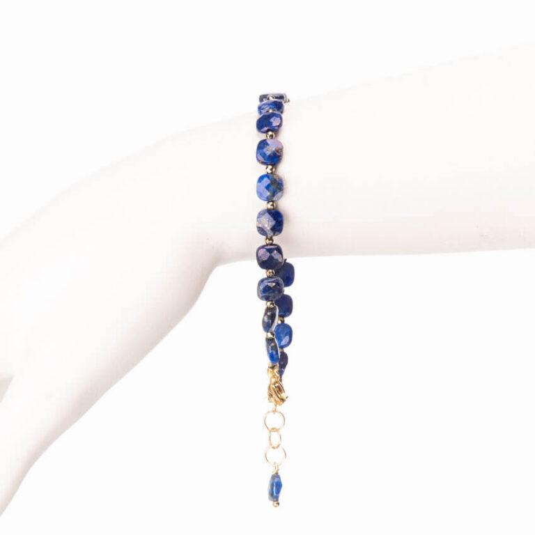 Braccialetto lapis blu ematite argento 1