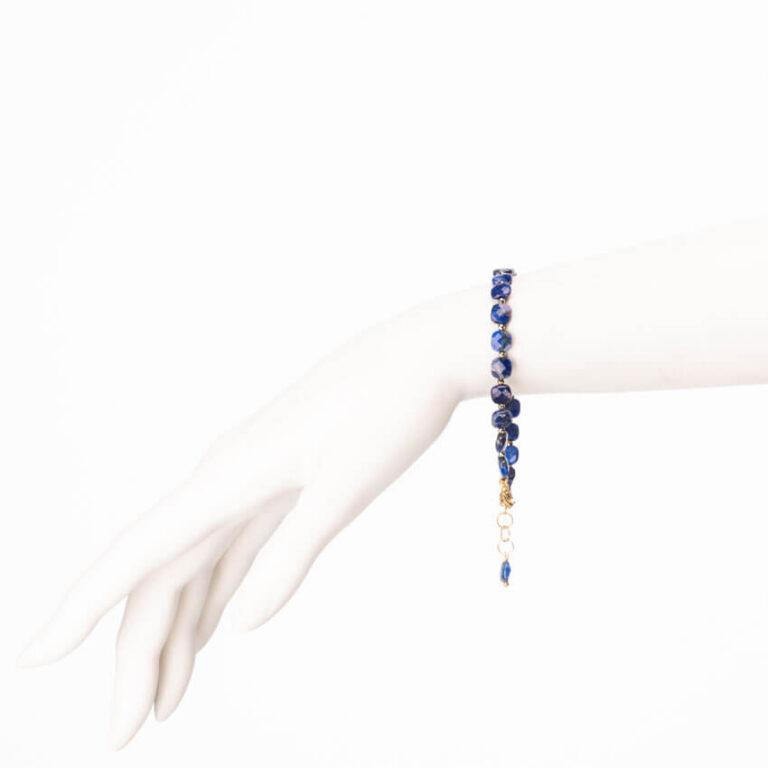 Braccialetto lapis blu ematite argento 2