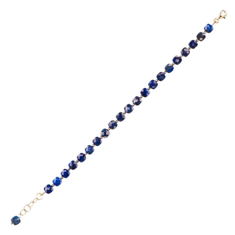 Braccialetto lapis blu ematite argento 3