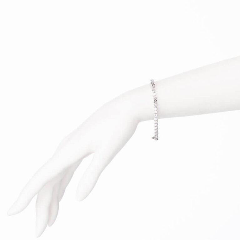 Braccialetto tennis modello cipollina argento zirconi 2