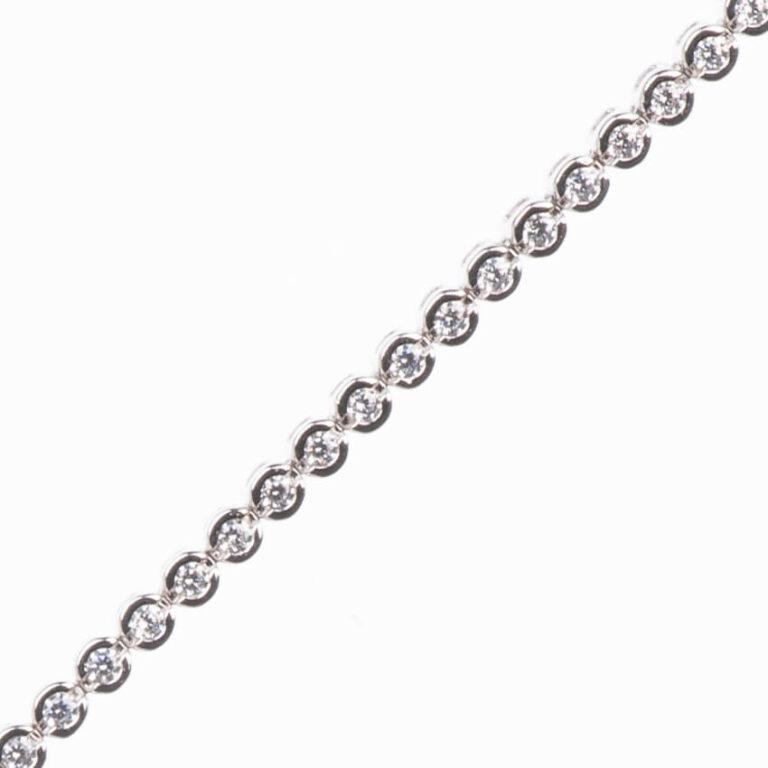Braccialetto tennis modello cipollina argento zirconi 4