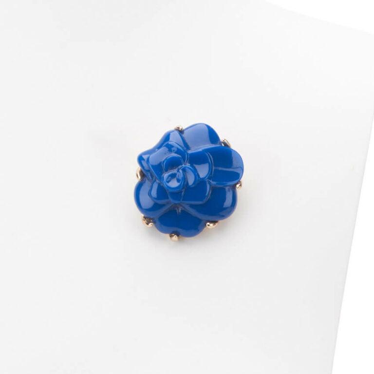 Spilla colore blu modello camelia 1