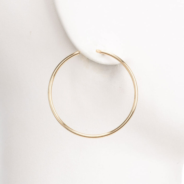 Orecchini perno cerchio sottile placcato oro lucido S 1
