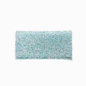 Pochette tessuto cristalli azzurro acquamarina 5
