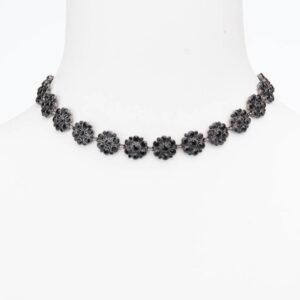 Collana girocollo choker cristalli neri